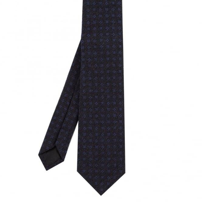 Andrew Scott Γραβάτα Μάλλινη Μελανζέ με Μικροσχέδιο Tie-AS5 Μπλε