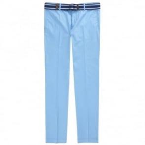 Παντελόνι Chinos Μονόχρωμο με Ζώνη Στενή Γραμμή Stanino9-W1 50286847 Σιέλ