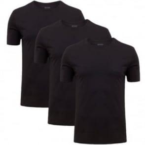 Φανελάκι Μονόχρωμο Λαιμόκοψη Πακέτο 3τμχ Shirt SS RN 3P BM 50236738 Μαύρο