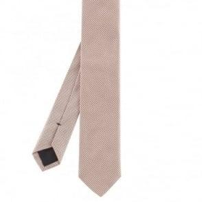 Γραβάτα Μεταξωτή με Διαγωνάλ Μικροσχέδιο Tie 7.5cm 50311381 Κόκκινο