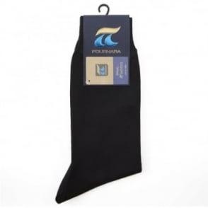 Κάλτσα Μονόχρωμη Βαμβακερή Κλασική 110 Μαύρο