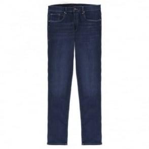 Παντελόνι Jean με Ελαφριά Ξεβάμματα Στενή Γραμμή EXTRASLIM380 52509S Μπλε