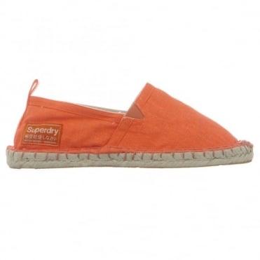 Παπούτσι Γυναικείο Εσπαντρίγια με Λογότυπο GS0IS233F1 Πορτοκαλί