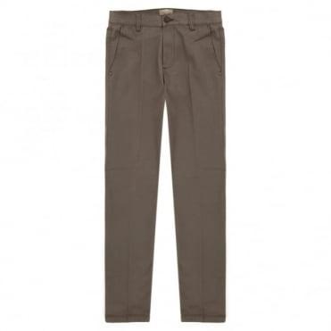 Blue Side Παντελόνι Chinos Μονόχρωμο Ελαστικό Στενή Γραμμή Blendo-71 Καφέ