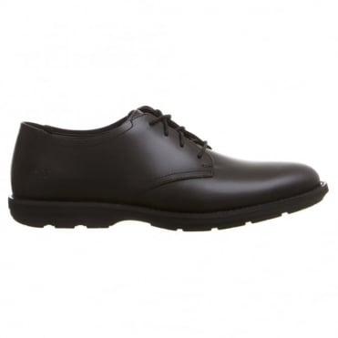 Παπούτσι Δερμάτινο Μονόχρωμο Δετό Kempton Oxford C9143B Μαύρο