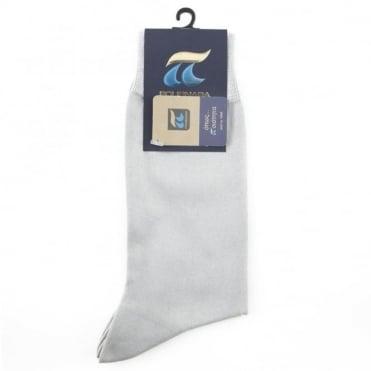 Κάλτσα Βαμβακερή Μονόχρωμη 110 Γκρι
