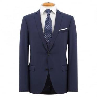 Κουστούμι Business με Μικροσχέδιο Στενή Γραμμή 903.1 Μπλε