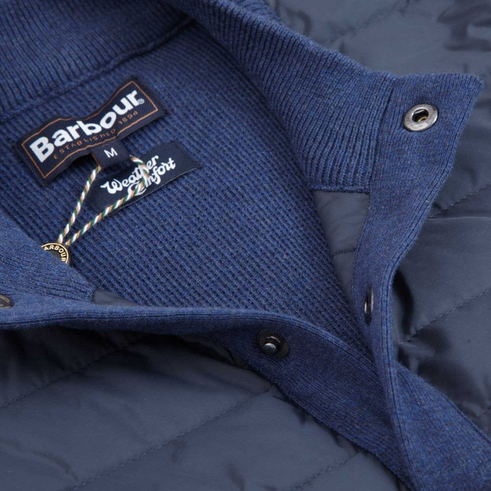 Barbour Μπουφάν Γιλέκο Καπιτονέ Essential Κανονική Γραμμή Μπλε ... 28b268e9e07