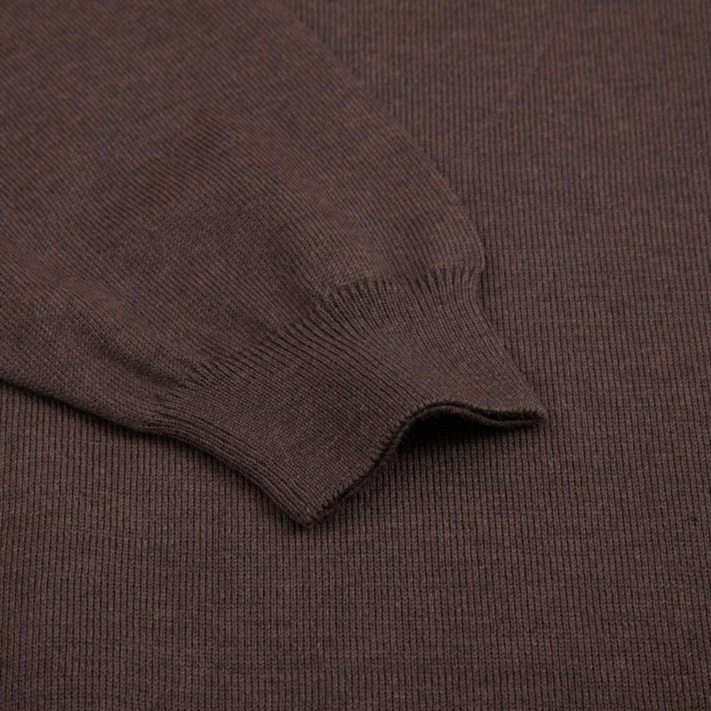 479fd6b1327a BOSS Πλεκτή Polo Μπλούζα Μάλλινη Bono-L Κανονική Γραμμή Καφέ ...