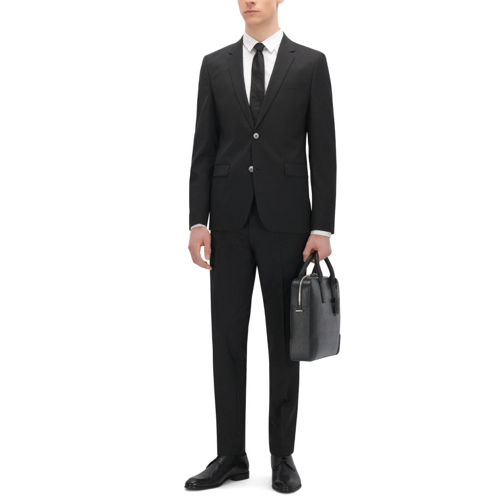 HUGO Σακάκι Μάλλινο Extra Στενή Γραμμή AldonS Μαύρο 50370301 da16d23bf2b