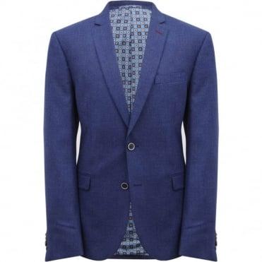 Σακάκι Μονόχρωμο Μελανζέ με Ανάγλυφο Μικροσχέδιο Στενή Γραμμή 3453703  S6143320 Μπλε EXTRA ... 85cd55d789d