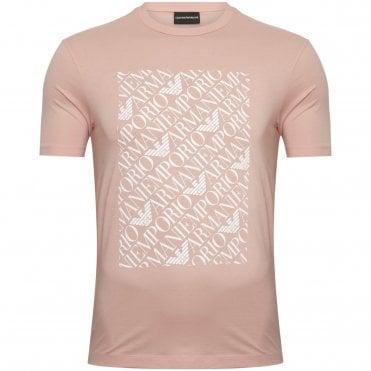 97b5282e381c Emporio Armani T-shirt Μπλούζα με Στάμπα Κανονική Γραμμή