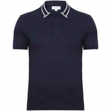 7891e311bc62 Lacoste Polo Μπλούζα Πικέ Στενή Γραμμή