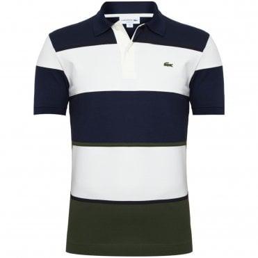 103aadf55056 Lacoste Polo Μπλούζα Πικέ Colorblock Κανονική Γραμμή