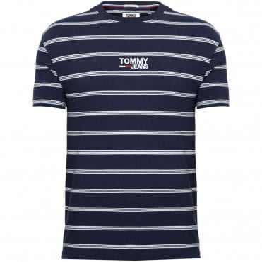 c074831adc6e Tommy Hilfiger TJM T-Shirt Μαρινιέρα Κανονική Γραμμή