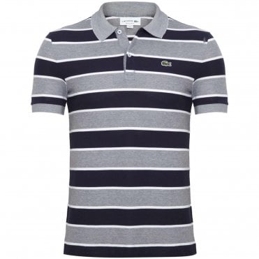 75240b77ad16 Lacoste Polo Μπλούζα Πικέ Μαρινιέρα Κανονική Γραμμή