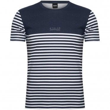 2b23e172612d BOSS T-shirt Μαρινιέρα Tee 5 Κανονική Γραμμή